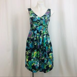 Zara Basic Floral Watercolor Dress with Pockets